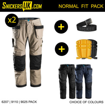 Snickers 6207 LiteWork Holster Pocket Trousers Pack - Snickers Work Trousers