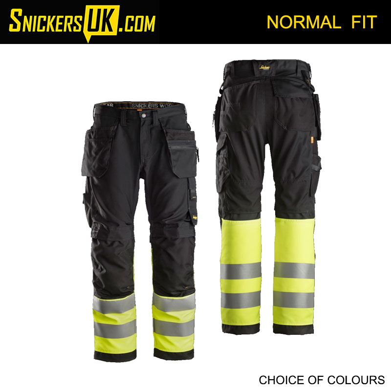 Snickers 6233 AllRoundWork High Vis Holster Pocket Trousers - Snickers Work Trousers