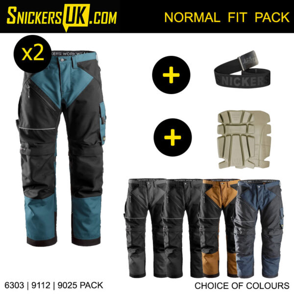 Snickers 6303 RuffWork Non Holster Pocket Trousers Pack - Snickers Work Trousers