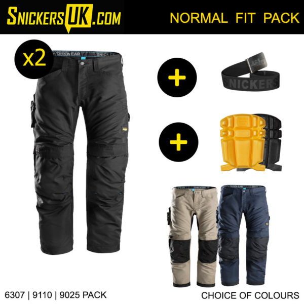 Snickers 6307 LiteWork Non Holster Pocket Trousers - Snickers Work Trousers