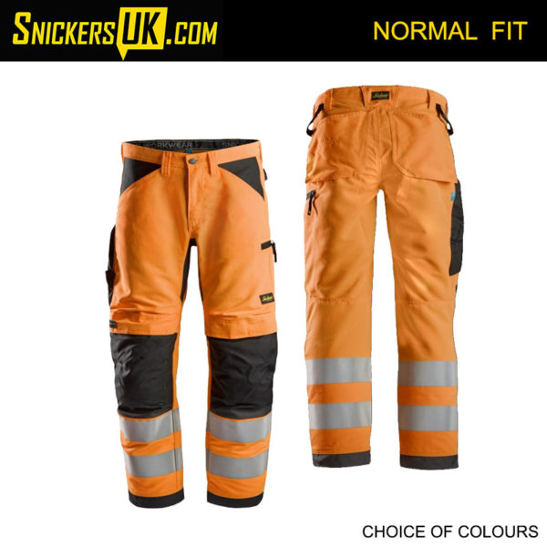 Snickers 6332 LiteWorkHi-Vis Non Holster Pocket Trousers