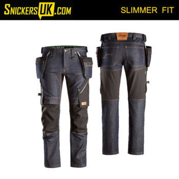Snickers 6955 FlexiWork Denim Holster Pocket Trousers - Snickers Workwear Trousers