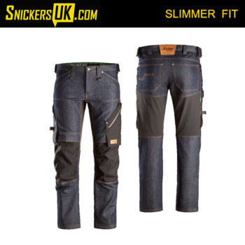 Snickers 6956 FlexiWork Denim Non Holster Pocket Trousers - Snickers Workwear Trousers