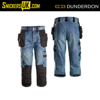Dunderdon P12K Carpenter 3/4 Denim Pirate Trousers - Dunderdon Trousers