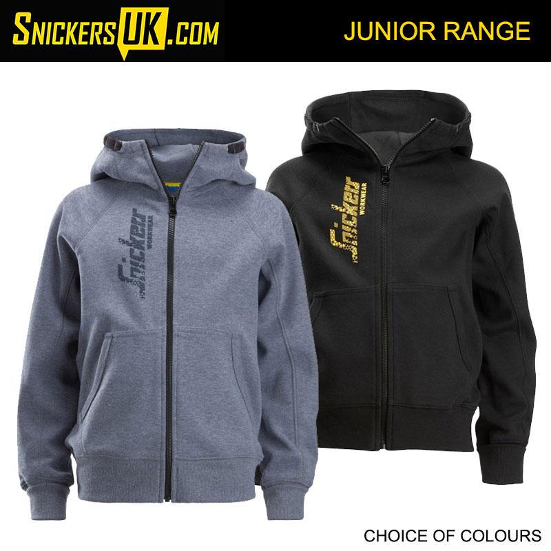 Snickers 7508 Junior Kids Logo Full Zip Hoodie