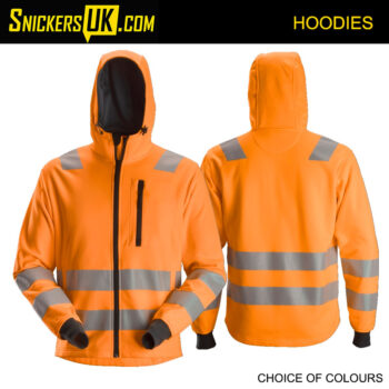 Snickers 8039 AllRoundWork High Vis Zip Hoodie - Snickers Hoodie - Snickers Hoodie - Snickers Hoodies