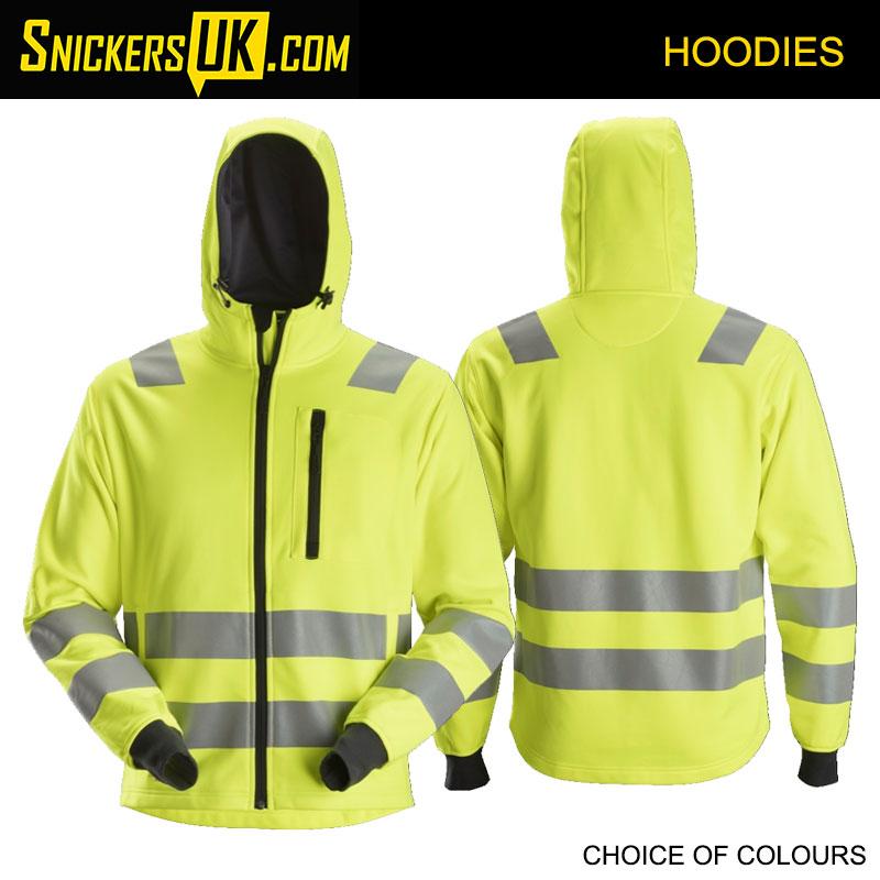 Snickers 8039 AllRoundWork High Vis Zip Hoodie - Snickers Hoodie - Snickers Hoodie - Snickers Hoodies