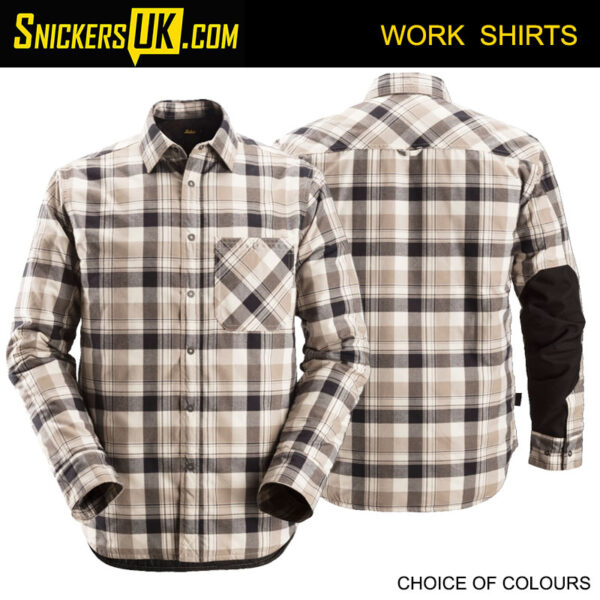 Snickers 8501 RuffWork Padded Checked Long Sleeve Shirt | Snickers Workwear Shirts