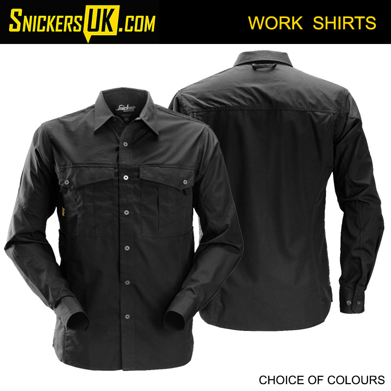 Snickers 8508 Rip Stop Long Sleeve Shirt | Snickers Workwear Shirts