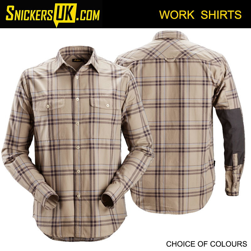Snickers 8502 RuffWork Flannel Checked Long Sleeve Shirt | Snickers Workwear Shirts
