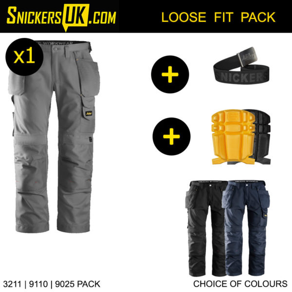 Snickers 3211 CoolTwill Holster Pocket Trousers - Snickers Workwear