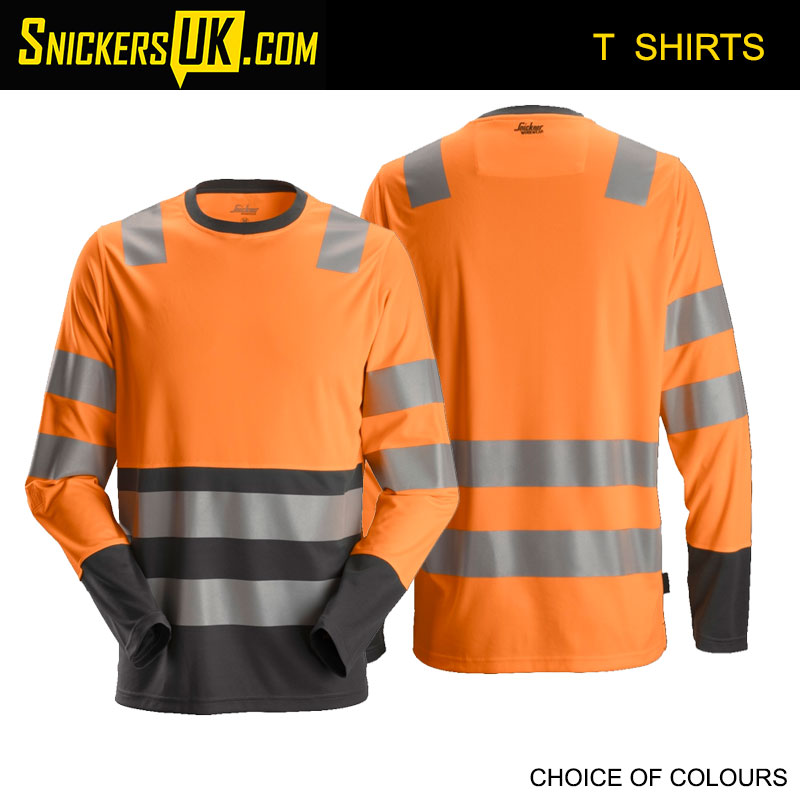 Snickers 2433 AllroundWork High-Vis Long Sleeve T-Shirt