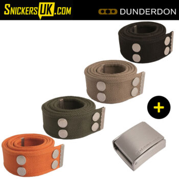 Dunderdon BE01S Canvas Belt & Silver Buckle
