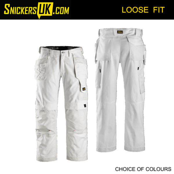 Snickers 3214 Canvas+ Holster Pocket Trousers - Snickers Work Trousers