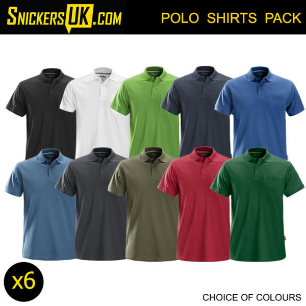 Snickers 2708 Classic Polo Shirt Pack