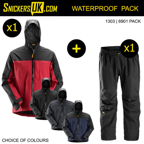 Snickers Waterproof Pack including Jacket and Trousers | Snickers Workwear