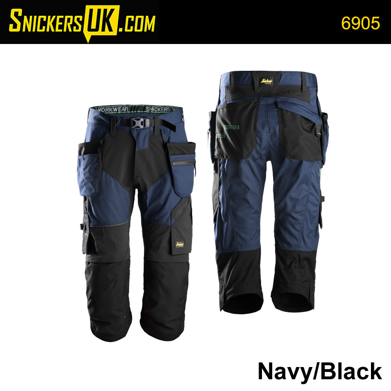 Snickers 6905 FlexiWork 3/4 Pirate Trousers