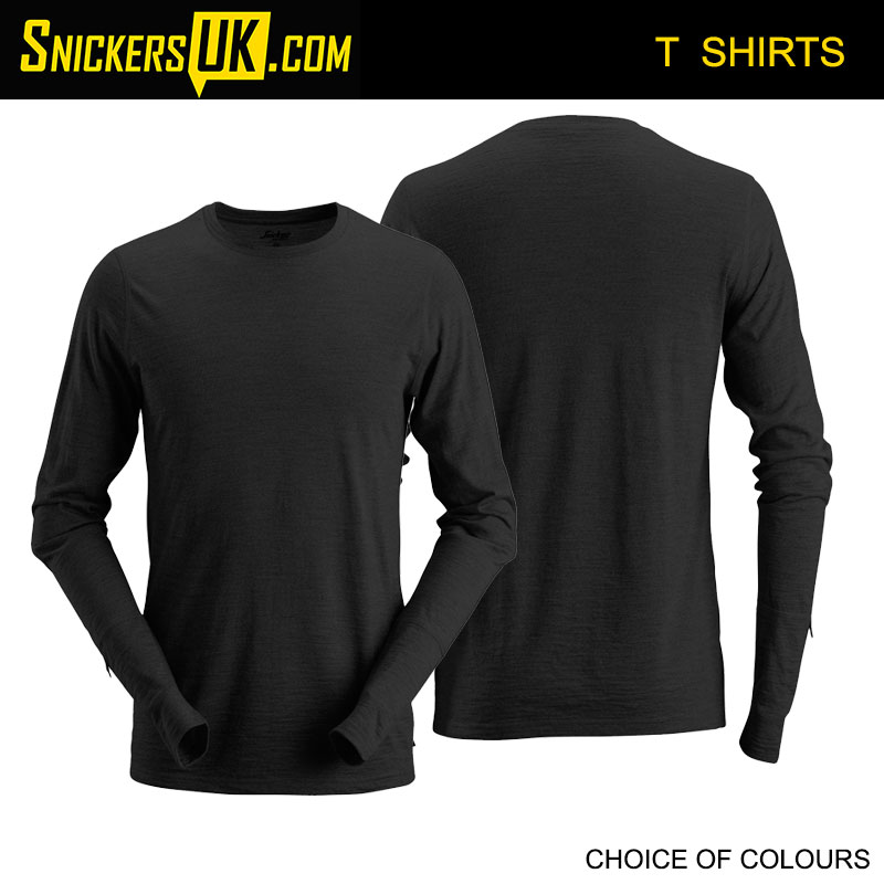 Snickers 2427 AllroundWork Wool Long Sleeve T-Shirt