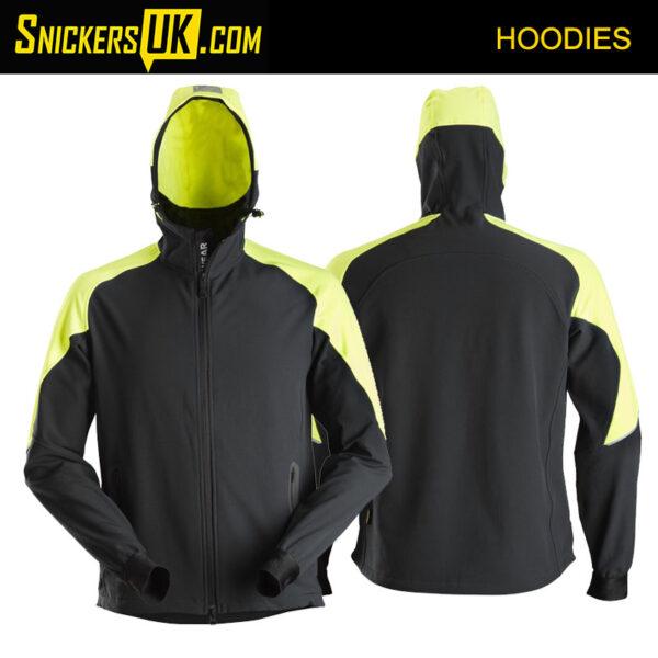 Snickers 8025 FlexiWork Neon Full Zipped Hoodie