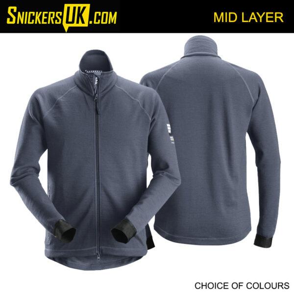 Snickers 8019 AllroundWork Midlayer Wool Full Zip Jacket
