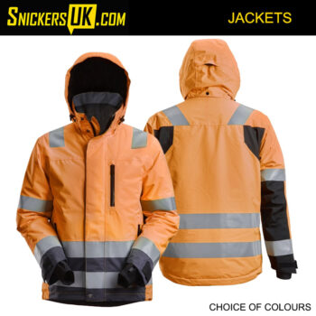 Snickers 1132 AllRoundWork, High-Vis Waterproof 37.5® Insulated Jacket