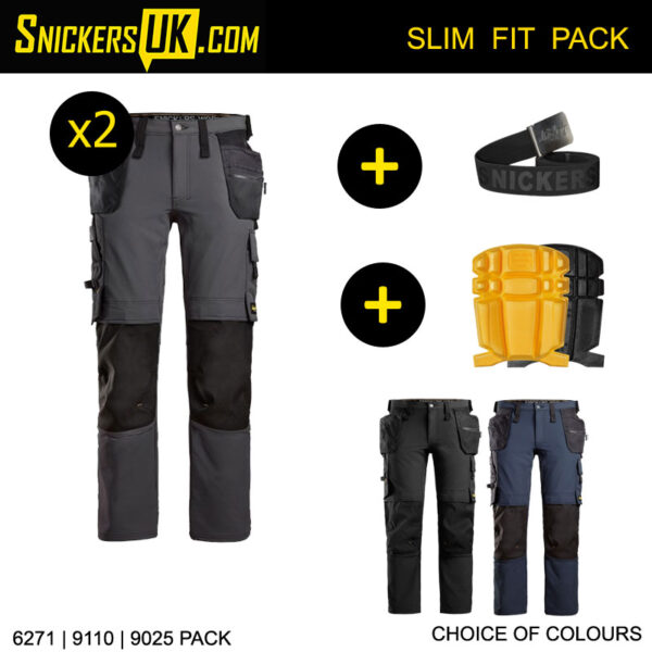 Snickers 6271 AllroundWork Full Stretch Holster Pocket Trousers