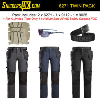 Snickers 6271 AllroundWork Full Stretch Holster Pocket Trousers Pack