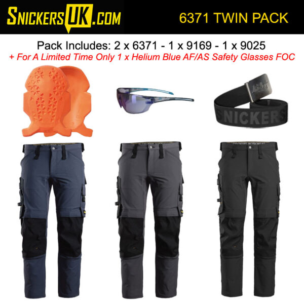 Snickers 6371 AllroundWork Full Stretch Non Holster Pocket Trousers Pack