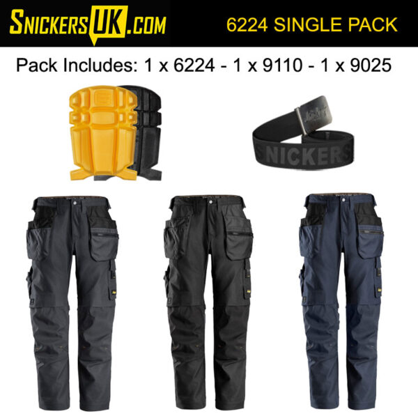 Snickers 6224 AllRoundWork Canvas+ Holster Pocket Trousers Pack