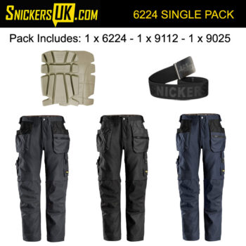 Snickers 6224 AllRoundWork Canvas+ Stretch Work Holster Pocket Trousers