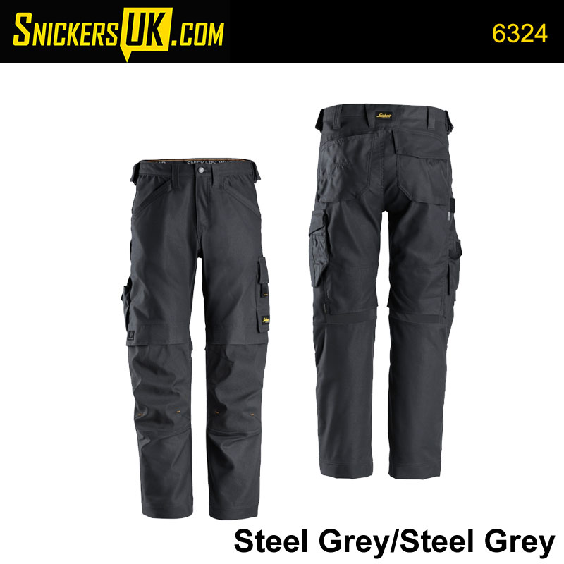 Snickers 6324 AllRoundWork Canvas+ Non Holster Pocket Trousers