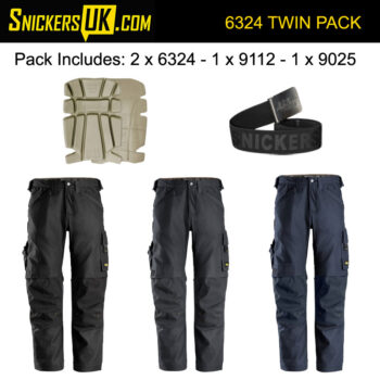 Snickers 6324 AllRoundWork Canvas+ Stretch Work Non Holster Pocket Trousers